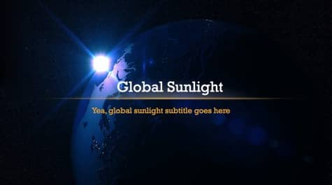 Dark Global Sunlight PowerPoint Background 1 - 15 Black PowerPoint Backgrounds