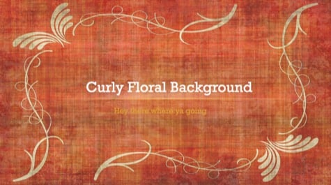 Floral Curlicue Waves PowerPoint Background 1 - 10+ Floral PowerPoint Backgrounds