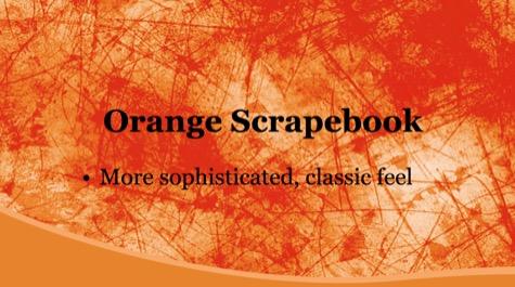 Orange Scrape Grunge PowerPoint Background 1 - 10+ Orange PowerPoint Backgrounds