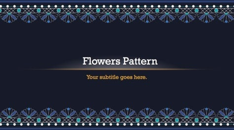 Seamless Flowers Pattern PowerPoint Background 1 - 10+ Floral PowerPoint Backgrounds