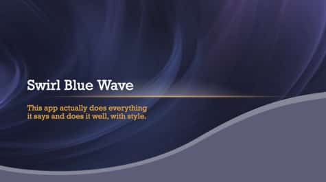 Swirly Blue Waves PowerPoint Background 1 - 15+ Blue PowerPoint Backgrounds