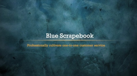 Blue Vintage ScrapeBook PowerPoint Background 1 - 15+ Blue PowerPoint Backgrounds