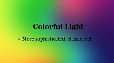 Warm Cold Colorful Light PowerPoint Background 1 - 10 Colorful PowerPoint Backgrounds