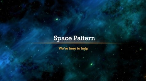 Abstract Cosmos Space PowerPoint Background 1 - 15 Black PowerPoint Backgrounds