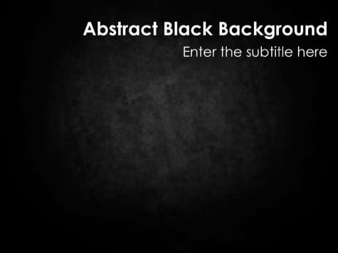 Abstract Texture - 15 Black PowerPoint Backgrounds