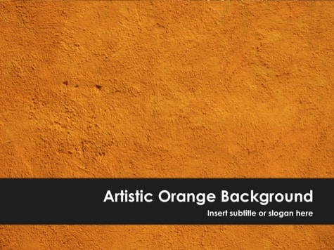 Artistic PowerPoint Background - 10+ Orange PowerPoint Backgrounds