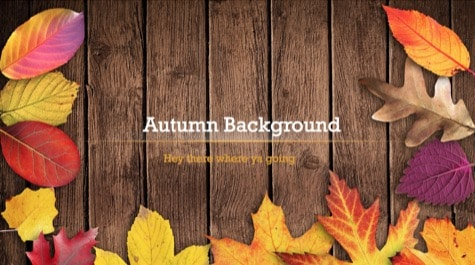 Autumn Leaves PowerPoint Background 1 - 9 Brown PowerPoint Backgrounds