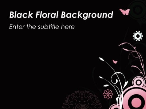 Black Floral - 10+ Floral PowerPoint Backgrounds