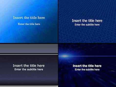 Blue PowerPoint Backgrounds - 15+ Blue PowerPoint Backgrounds