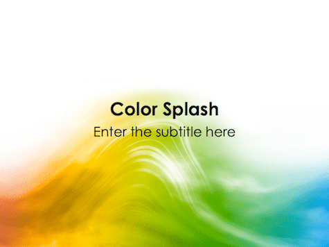 Color Splash PowerPoint Background - 10 Colorful PowerPoint Backgrounds