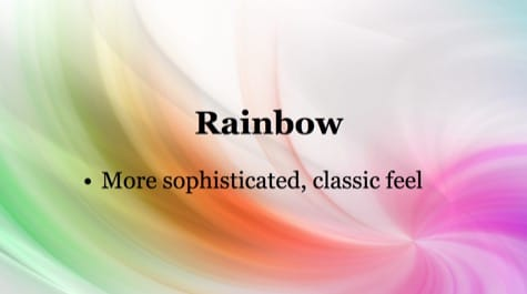 Colorful Rainbow PowerPoint Background 1 - 10 Colorful PowerPoint Backgrounds