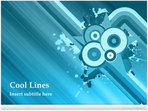 Cool Lines Background - 15+ Blue PowerPoint Backgrounds