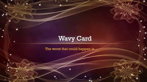 Curly Waves Card PowerPoint Background 1 - 9 Brown PowerPoint Backgrounds