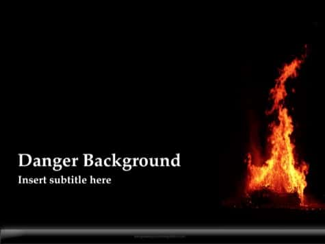 Danger Background - 15 Black PowerPoint Backgrounds