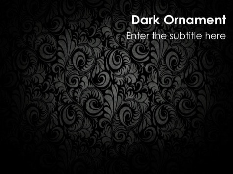 Dark Ornament - 15 Black PowerPoint Backgrounds