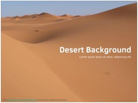 Desert PowerPoint Background - 10+ Orange PowerPoint Backgrounds