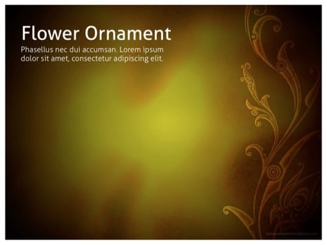 Flower Ornament - 10+ Floral PowerPoint Backgrounds