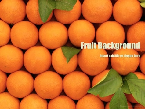 Fruit Background PowerPoint - 10+ Orange PowerPoint Backgrounds