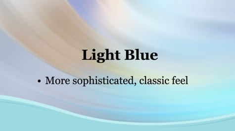 Light Blue Waves PowerPoint Background 1 - 15+ Blue PowerPoint Backgrounds
