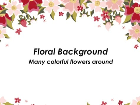 Many Flowers - 10+ Floral PowerPoint Backgrounds