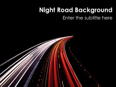 Night Road - 15 Black PowerPoint Backgrounds