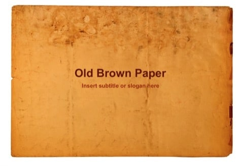 Old Brown Paper - 9 Brown PowerPoint Backgrounds