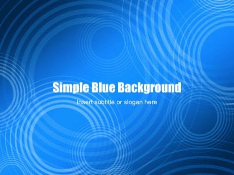 Simple Blue - 15+ Blue PowerPoint Backgrounds