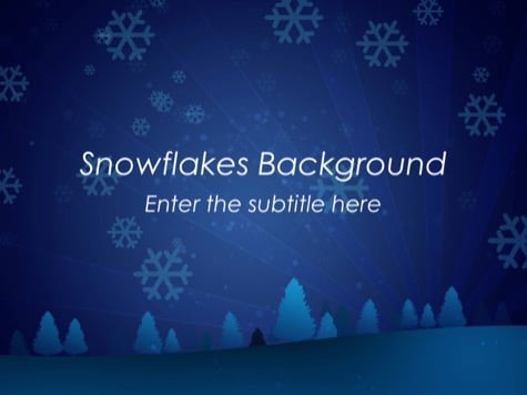 Snowflakes PowerPoint Background - 15+ Blue PowerPoint Backgrounds
