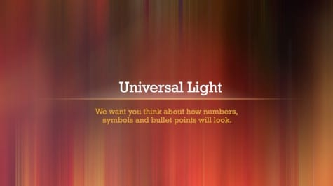 Universal Light Rays PowerPoint Background 1 - 9 Brown PowerPoint Backgrounds