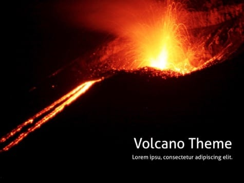 Volcano Background PPT - 15 Black PowerPoint Backgrounds