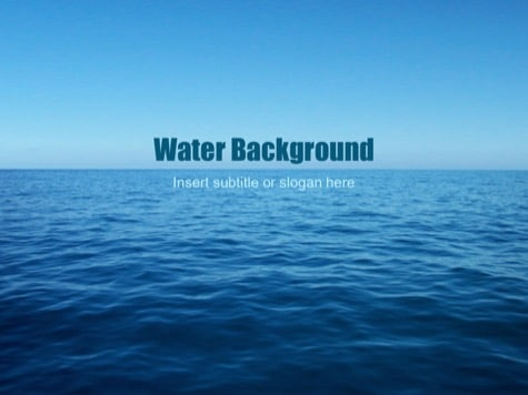 Water Background - 15+ Blue PowerPoint Backgrounds