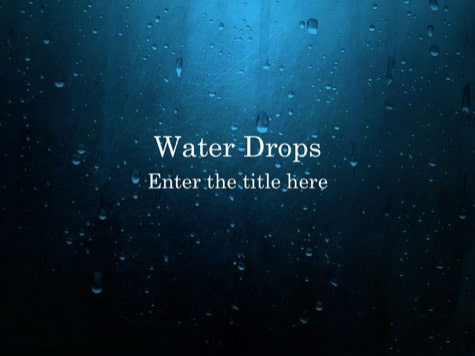 Water Drops - 15+ Blue PowerPoint Backgrounds