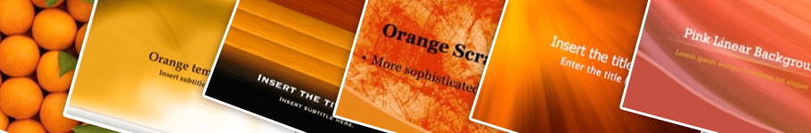 orange PowerPoint backgrounds - Home