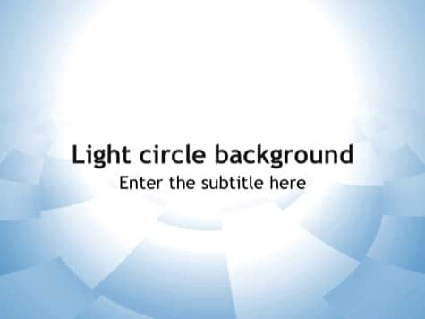 Light Circle Background - 10+ Simple PowerPoint Backgrounds