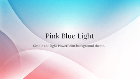 Pink Blue Light - 10+ Simple PowerPoint Backgrounds