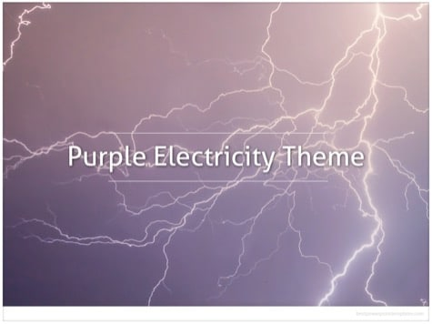 Purple Lightning Background - 10+ Pink PowerPoint Backgrounds