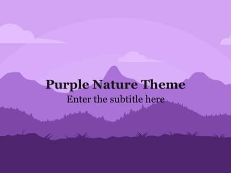 Purple Nature PowerPoint Background - 10+ Pink PowerPoint Backgrounds