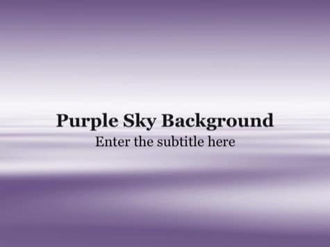 Purple Sky - 10+ Pink PowerPoint Backgrounds