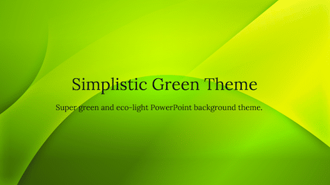 Simple Green Theme 1 - 10+ Simple PowerPoint Backgrounds