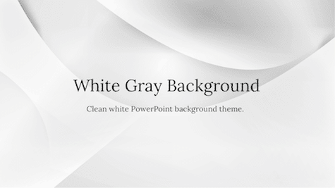White Gray Background - 10+ Simple PowerPoint Backgrounds